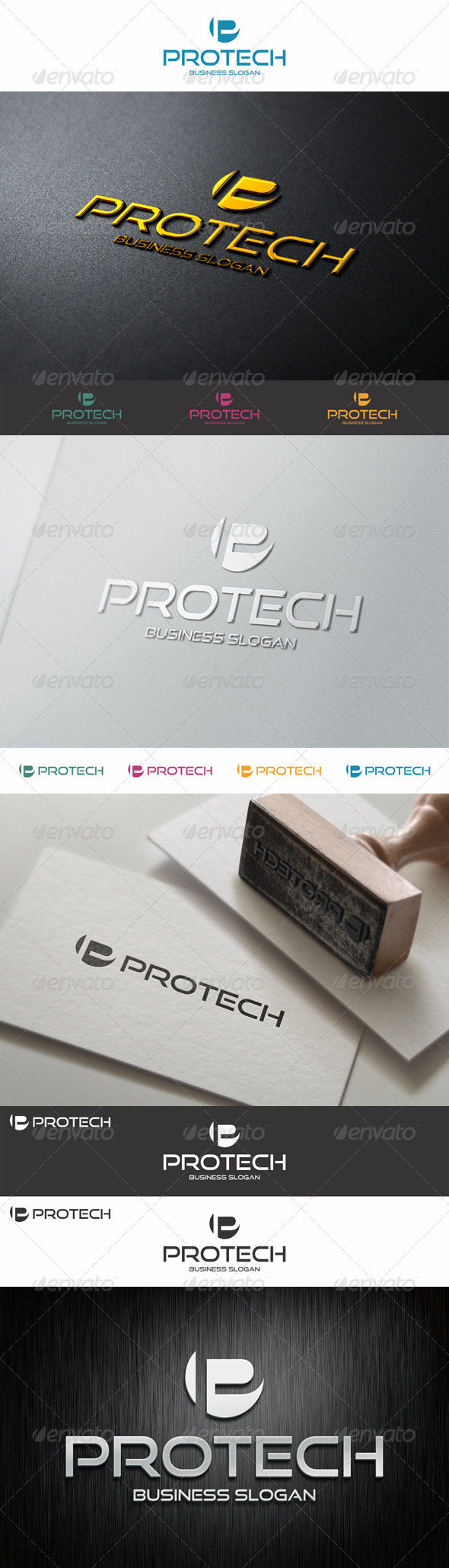 GraphicRiver P Logo Shape Pro Tech 8721439