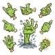 Cartoon Zombie Hands Set for Horror Design - GraphicRiver Item for Sale