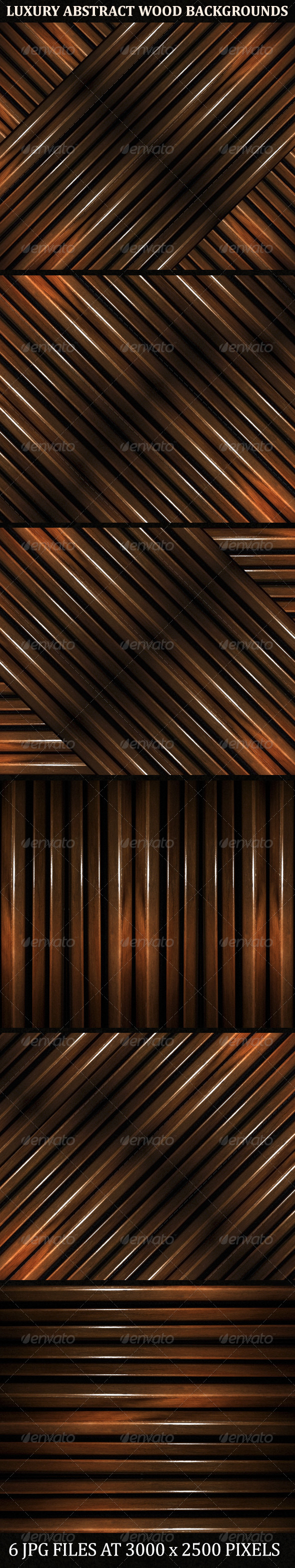 GraphicRiver 6 Luxury Abstract Geometric Wood Backgrounds 8721500