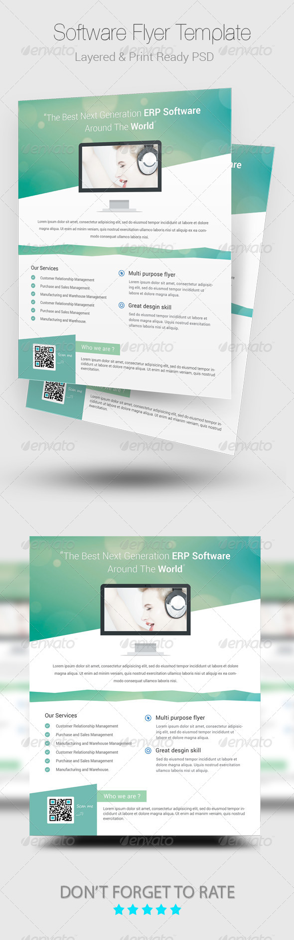 GraphicRiver Modern Software PSD Flyer Template 8721508