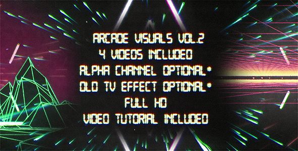 Retro Arcade Visuals Vol.2