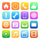 Colorful style mobile phone icons vector set. - PhotoDune Item for Sale