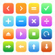 Colorful style calculator and computer icons vector set. - PhotoDune Item for Sale