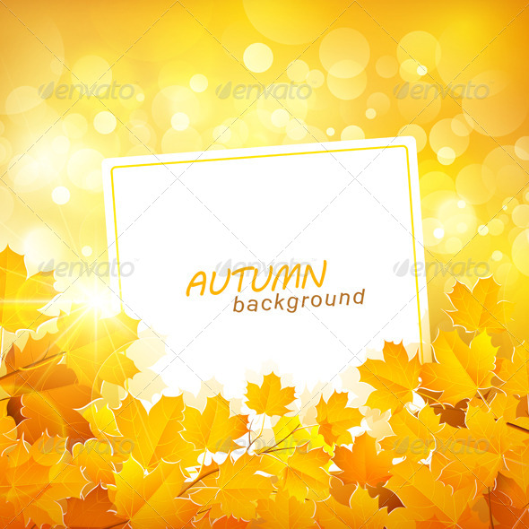GraphicRiver Autumn Leaves Background 8721763