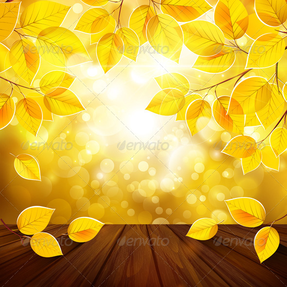GraphicRiver Autumn Leaves Background 8721826