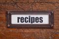 recipes  label - PhotoDune Item for Sale