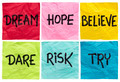 dream, believe, risk, try - PhotoDune Item for Sale