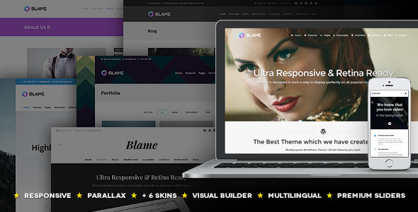ThemeForest Blame Responsive MultiPurpose WordPress Theme 8171459