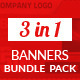 Banner Bundle - 3 sets  - GraphicRiver Item for Sale