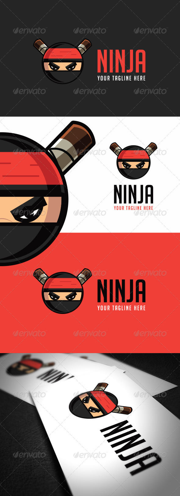 GraphicRiver Ninja Logo Template 8722064
