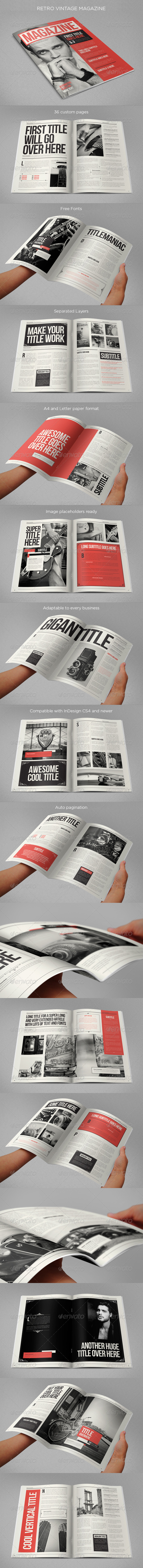 GraphicRiver Retro Vintage Magazine 8682759
