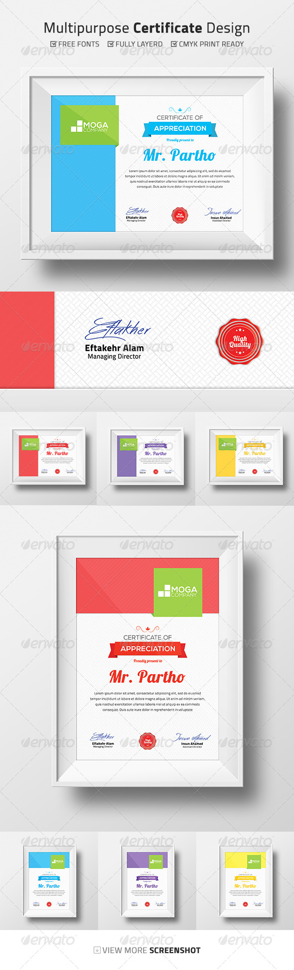 GraphicRiver Multipurpose Certificate Design 8722453