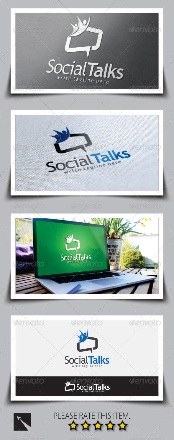 GraphicRiver Social Talk Logo Template 8722723