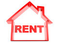 rent house on white background - PhotoDune Item for Sale