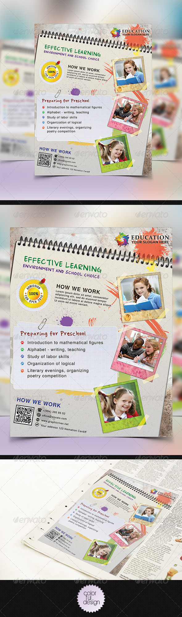 GraphicRiver Junior School Promotion Flyer 8723713