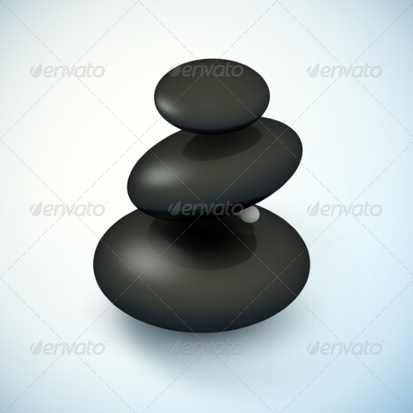 GraphicRiver Black Spa Rocks Pyramid 8723728