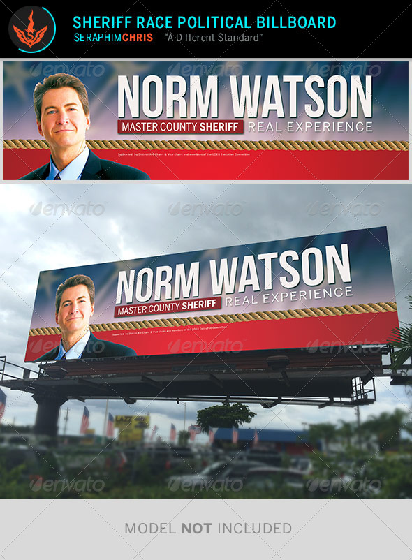GraphicRiver Sheriff Race Political Billboard Template 8723765