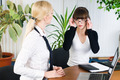 Attractive business ladies work and communicate in office - PhotoDune Item for Sale