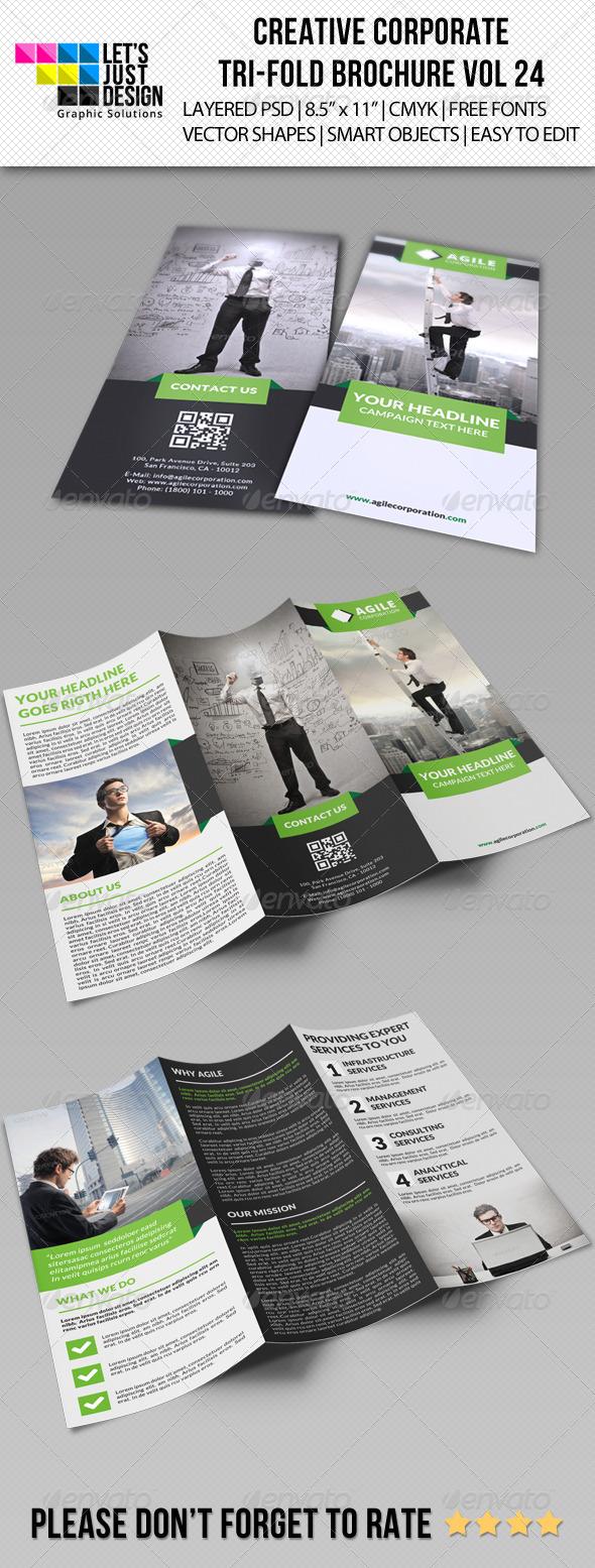 GraphicRiver Creative Corporate Tri-Fold Brochure Vol 24 8723970