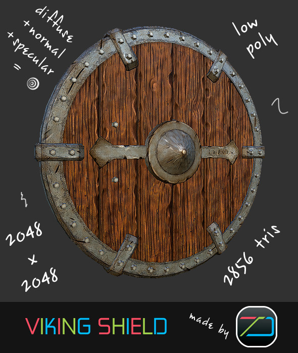 3DOcean Viking Shield 8724082