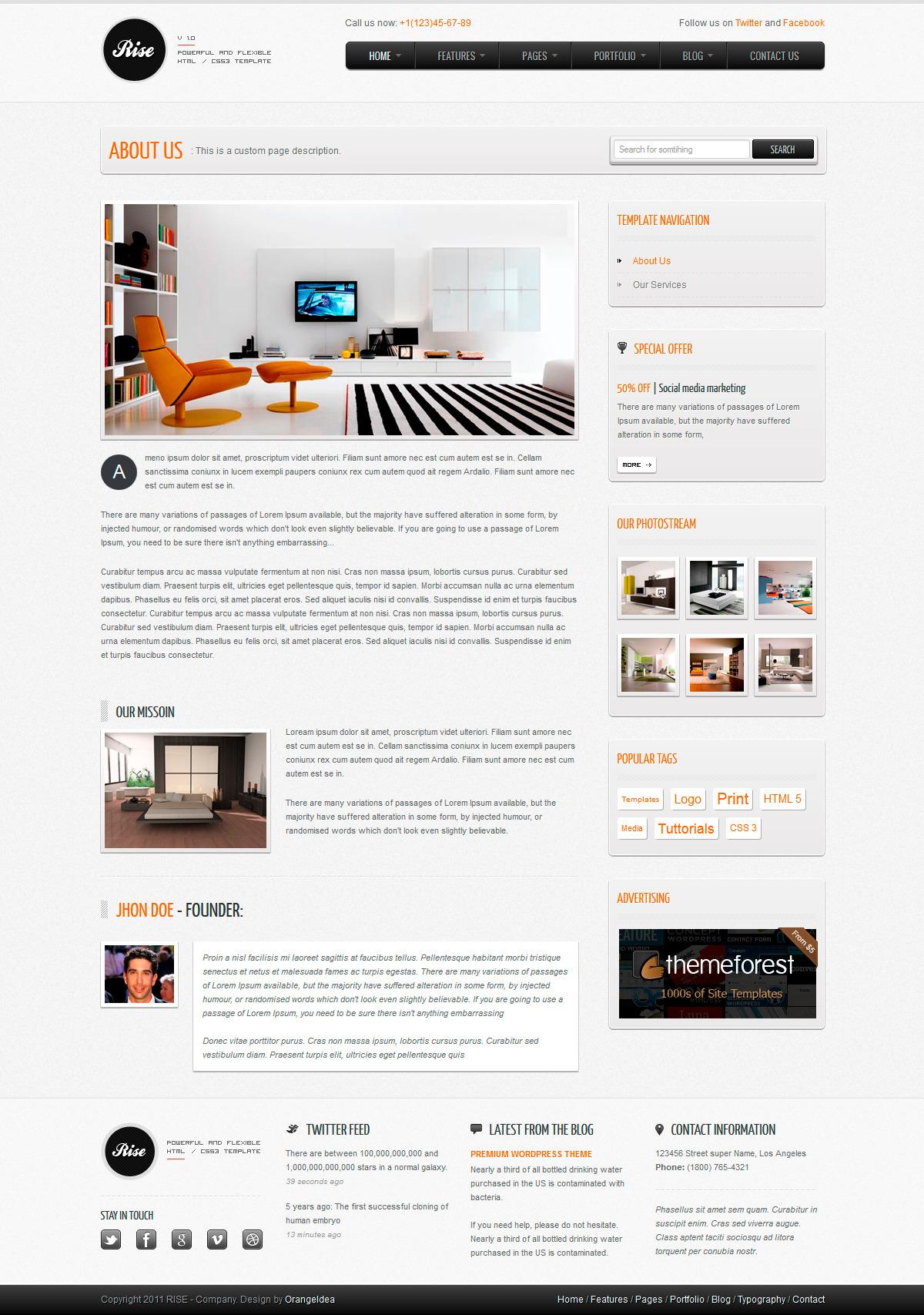 RISE - Premium HTML Template