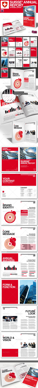 GraphicRiver Swiss Style Annual Report Magazine A4 887159