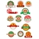 Italian Pizza, Banners, Emblems and Labels Set - GraphicRiver Item for Sale