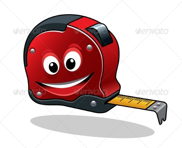 GraphicRiver Cartoon Measuring Tape 8724347