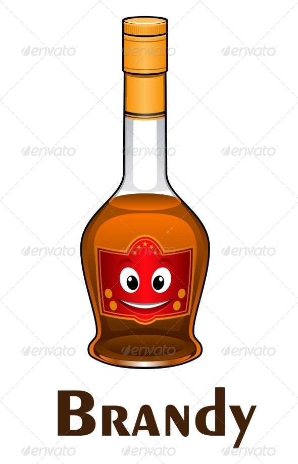 GraphicRiver Cartoon Brandy Bottle 8724640