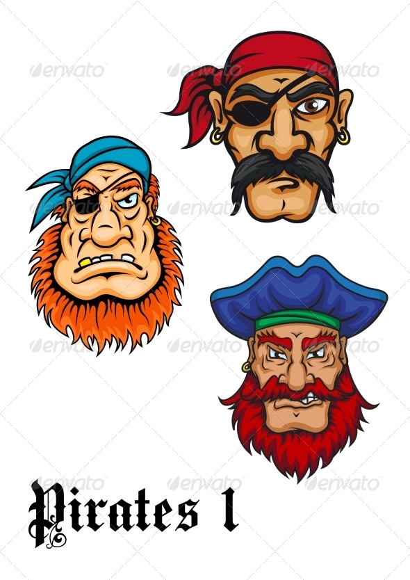 GraphicRiver Cartoon Pirate Characters 8724666