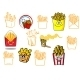 Cartoon Fries Takeaway Designs - GraphicRiver Item for Sale