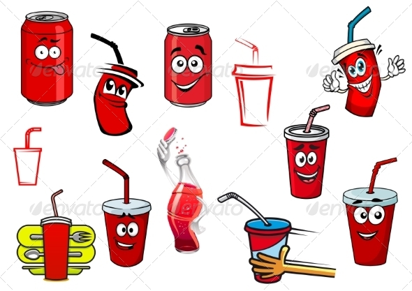 GraphicRiver Cartoon Soda Drink 8724678