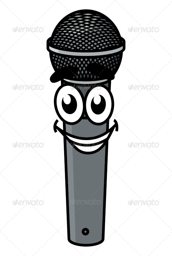 GraphicRiver Cartoon Microphone 8724700