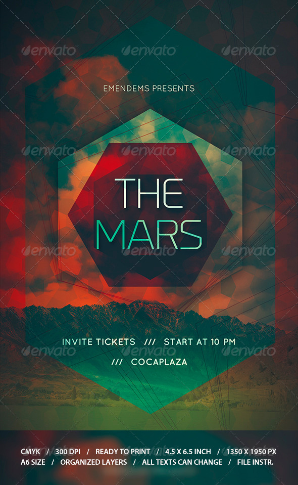 GraphicRiver The Mars Flyer Template 8724718