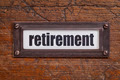retirement label - PhotoDune Item for Sale