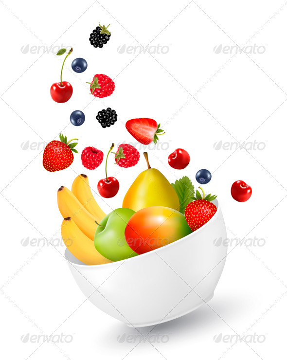 GraphicRiver Bowl of Healthy Fruit Concept of Diet 8724805