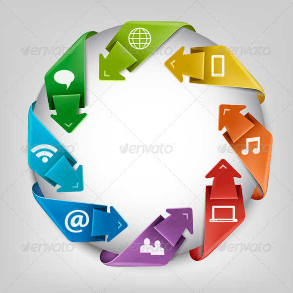 GraphicRiver Business Social Network Concept 8724839