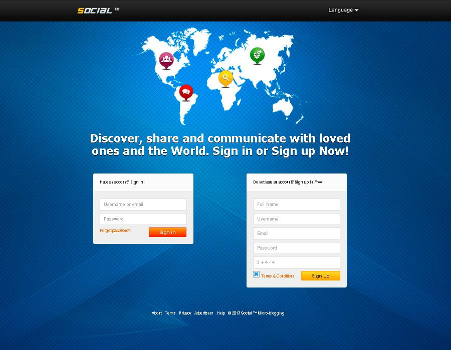PHP Social Microblogging
