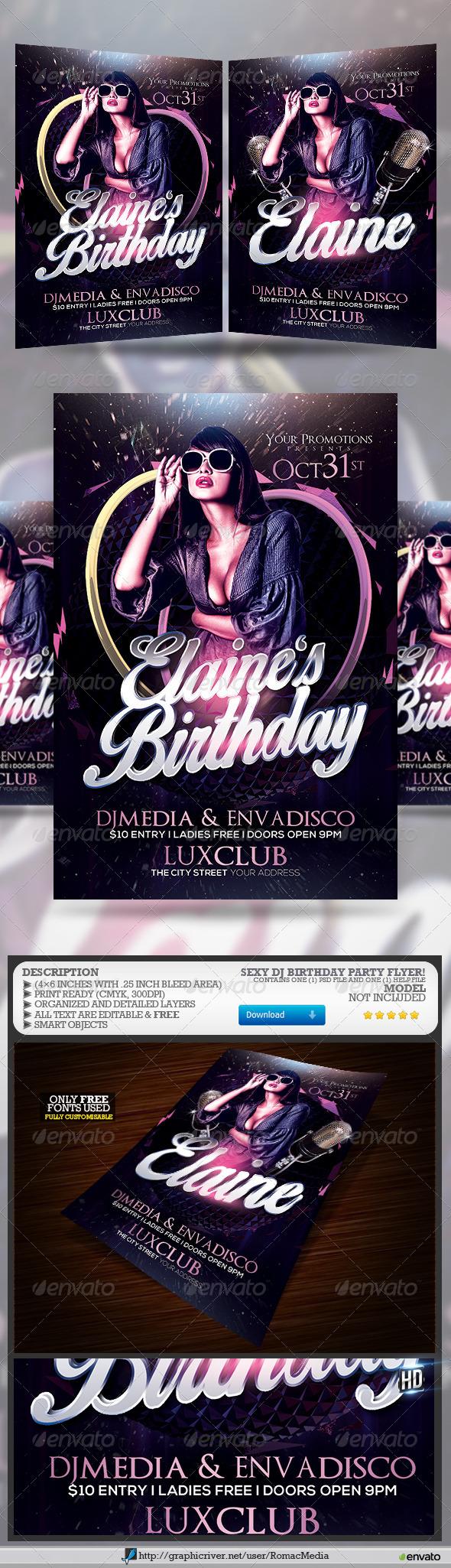 Sexy DJ Birthday Party