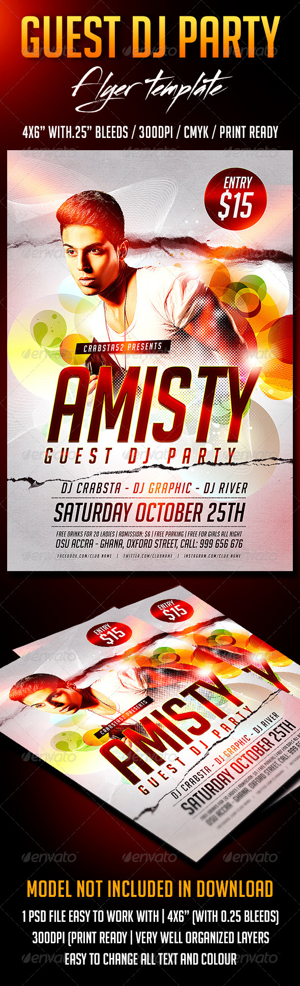 GraphicRiver Guest Dj Party Flyer Template 8724917