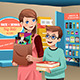 Mother and Son Buying School Supplies - GraphicRiver Item for Sale