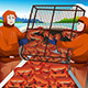Crab Fishermen Catching Crabs in the Sea - GraphicRiver Item for Sale