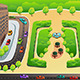 View of a Highway and a Park from Above - GraphicRiver Item for Sale