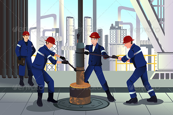 GraphicRiver Oil and Gas Workers 8725105