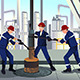 Oil and Gas Workers - GraphicRiver Item for Sale