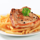 Pan fried pork chop with fries - PhotoDune Item for Sale