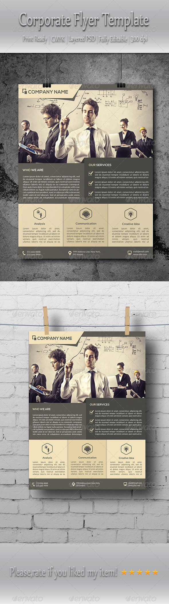 GraphicRiver Clean Corporate Flyer Template 8725348
