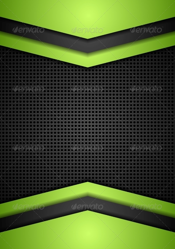 GraphicRiver Dark Perforated Tech Corporate Background 8725353