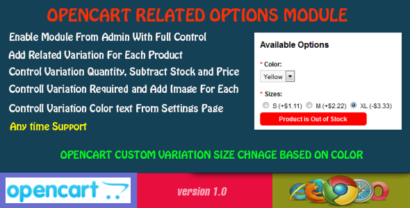 CodeCanyon Opencart Related Options Module 8725371