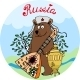 Hospitable Russian Bear with a Balalaika - GraphicRiver Item for Sale